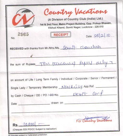 Complaint Against COUNTRY VACATIONS Country Vacations IComplaintsin