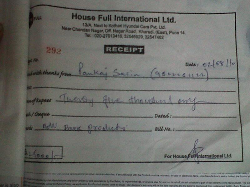 House Full International Ltd Pune Kharadi No Delivery