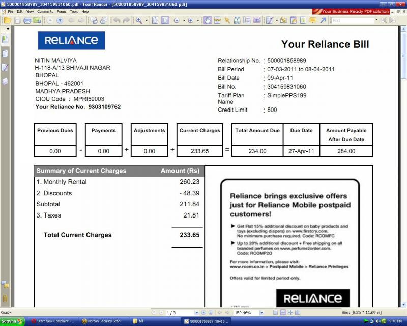 Idea Postpaid Bill Payment