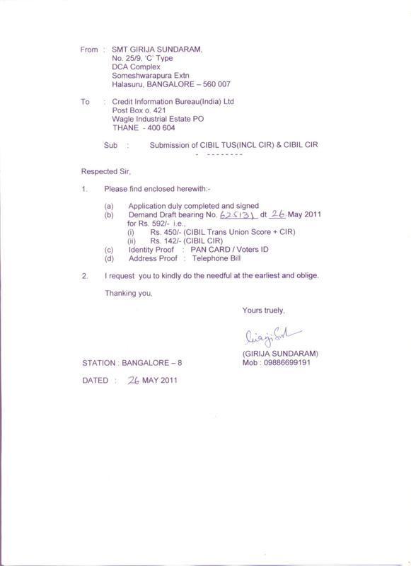 Non Receipt Of Cibil Transunion Score Cibil Score Report-Cibil